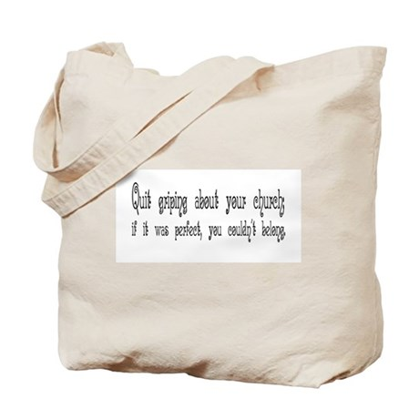 Perfect Church Tote Bag