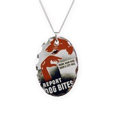 Retro Report Dog Bites Necklace