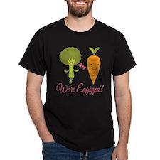 We're Engaged Veggie Couple T-Shirt