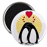 Loving Penguins (sunburst) Magnet