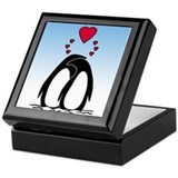 Loving Penguins Keepsake Box