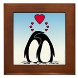 Loving Penguins Framed Tile