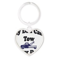 my tow dad copy Heart Keychain