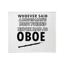 Cool Oboe designs Throw Blanket