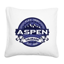 Aspen Midnight Square Canvas Pillow
