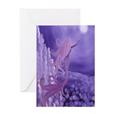 lavender mermaid area rug Greeting Card