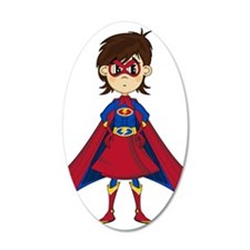 Cute Supergirl Hero Wall Decal