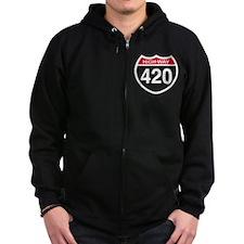 Highway 420 Zip Hoodie