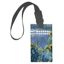 Sunflowers on the Banks of the S Large Luggage Tag