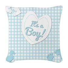 It's a Boy Woven Throw Pillow