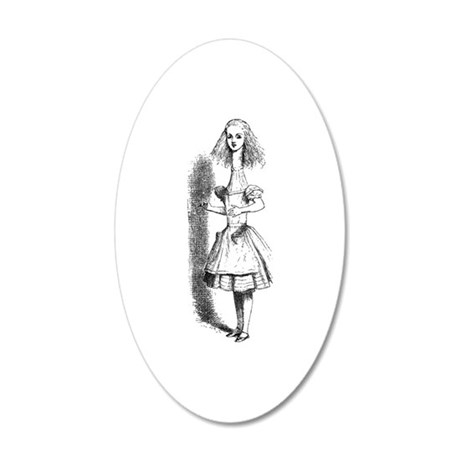 Stretched Alice 35x21 Oval Wall Decal
