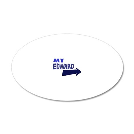 My Edward 20x12 Oval Wall Decal