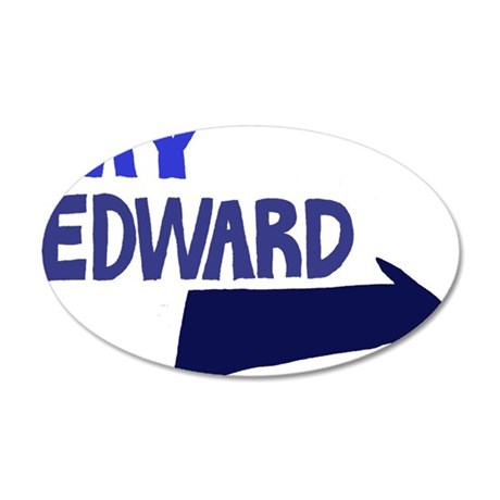My Edward 35x21 Oval Wall Decal