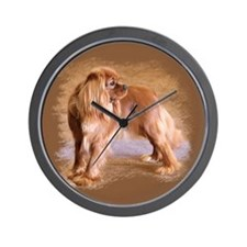 Cavalier King Charles Spaniel -Ruby Wall Clock