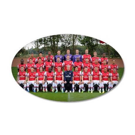 ARSENAL 2013-14 35x21 Oval Wall Decal