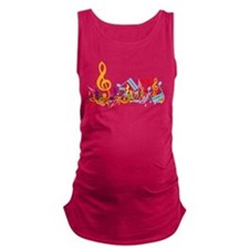 Colorful Musical Notes.png Maternity Tank Top