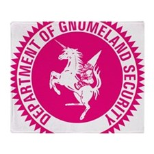 GNOMELAND SECURITYhot pink Throw Blanket