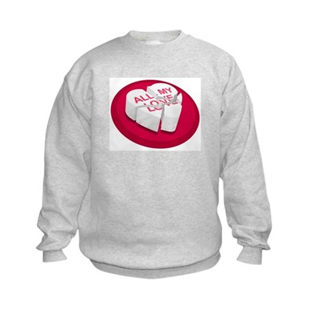 All My Love Broken Heart Kids Sweatshirt