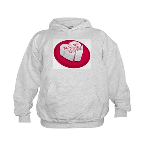 All My Love Broken Heart Kids Hoodie