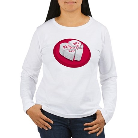All My Love Broken Heart Women's Long Sleeve T-Shi