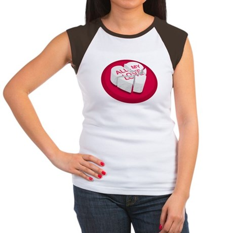 All My Love Broken Heart Women's Cap Sleeve T-Shir