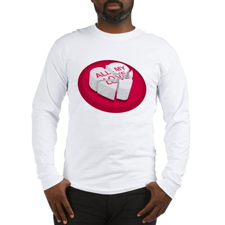 All My Love Broken Heart Long Sleeve T-Shirt