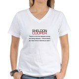 Big bang theory sheldon quotes tshirt Womens V-Neck T-shirts
