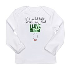 I Love Rugby Long Sleeve T-Shirt