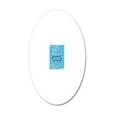 iPhone3SkinnyBitchBlue 20x12 Oval Wall Decal