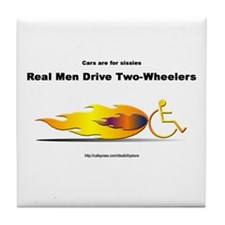 """Real Men"" Tile Coaster"