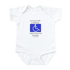"""Wheelchair Pride"" Infant Bodysuit"