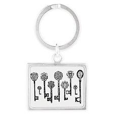 Vintage Keys Landscape Keychain