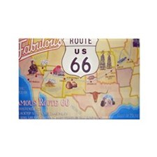Route 66 Rectangle Magnet (10 pack)