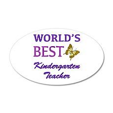 World's Best Kindergarten Teacher 20x12 Oval Wall