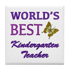World's Best Kindergarten Teacher Tile Coaster