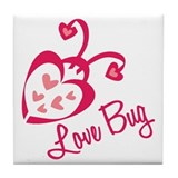 Love Bug Tile Coaster