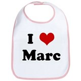 I Love Marc Bib