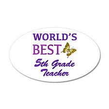 World's Best 5th Grade Teacher Wall Decal
