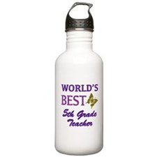 World's Best 5th Grade Teacher Sports Water Bottle