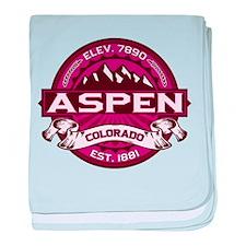 Aspen Raspberry baby blanket