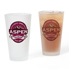 Aspen Raspberry Drinking Glass