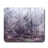 Sunlit Icy Trees Mousepad