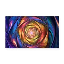 Fractal Satin Spiral Holder Rectangle Car Magnet