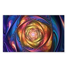 Fractal Satin Spiral Holder Decal