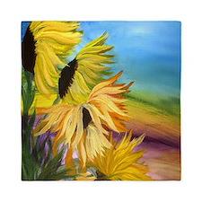 Sunflower Field Queen Duvet