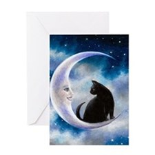 Cat 580 Greeting Card