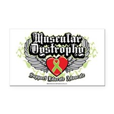 Muscular-Dystrophy-Wings Rectangle Car Magnet