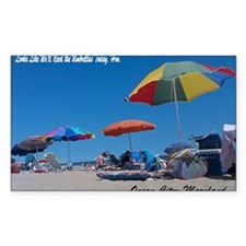 Ocean City, MD Post Card Decal