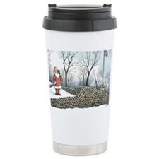 Santa on top on Washington Rock Ceramic Travel Mug