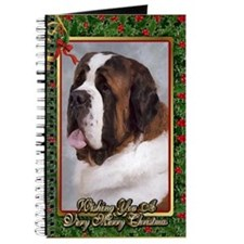 Saint Bernard Dog Christmas Journal